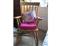 Pine Rocking Chair Excellent Condition- Light Varnish
