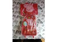 Peppa Pig Trolley Bag and Book Bag BNWT