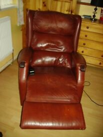 FULLY ELECTRIC RECLINER LEATHER CHAIR