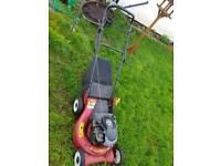 Working lawn mower