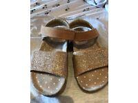 Next gold glitter sandals - size 10