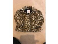 Myleen klass leopard print girl coat