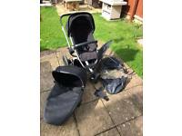 Quinny Buzz Xtra and foldable carry cot and extras