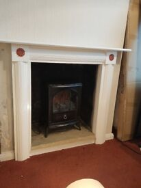 Electric fire and surround - Dunelm