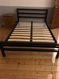 metal double bed frame - VGC