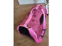 Pink travel bag for cat or little dog