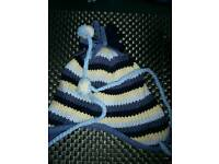 Baby cosy hat 0-3-6 months