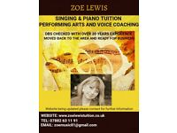 Singing/ Piano & Performing Arts Tuition (Choirs & Workshops also taking place) Offers available