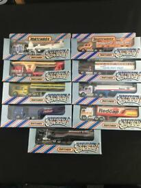 9 x 1983 matchbox convoy trucks