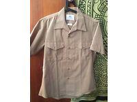 BDU U.S. Marine corps+ khaki short sleeve shirt