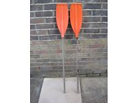 Pair of inflatable boat oars