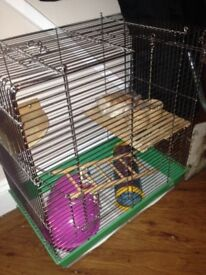 Large metal cage for small animals eg hamsters, rats, gerbils etc