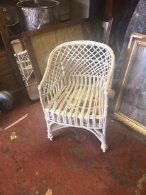 Antique child's wicker chair ...