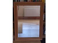 Large Oak Wall mirror