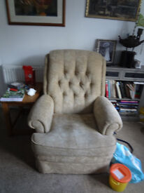 3 seater settee matching armchair and recliner parker knoll