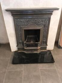Victorian reproduction fireplace & marble hearth