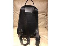 Louis Vuitton black leather back pack, gym bag, travel bag