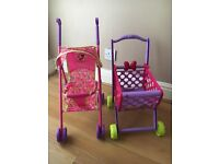 Minnie Mouse stroller and trolley