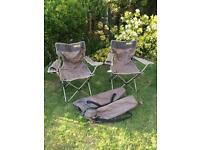 2 camping outdoor chairs