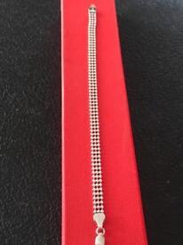 Ladies genuine sterling silver bracelet 5 mm wide Hallmarked 925