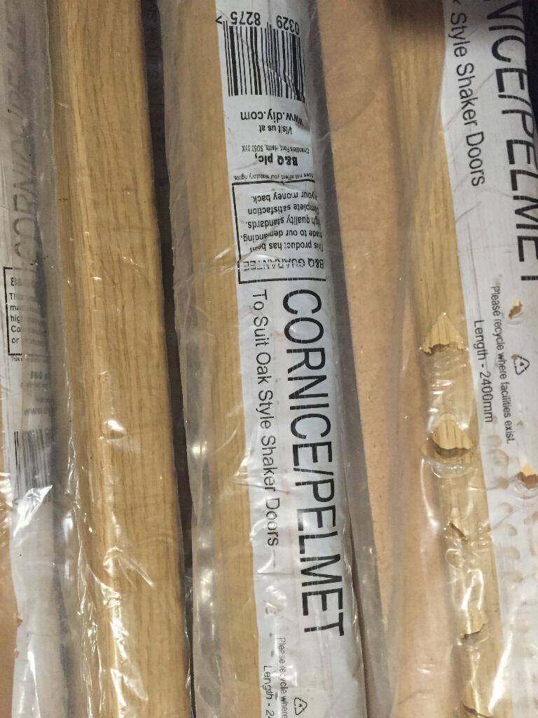 Kitchen Cornice Or Pelmet Oak Style Shaker Colour New B Amp Q