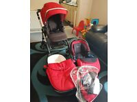 Silver Cross Wayfarer Pushchair Carrycoat & Car Seat