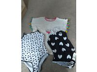 BNWT girls 2 pack swimming costumes age 13-14 and a beach cover up