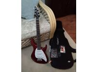 Tanglewood TE2 Baretta Electric Guitar with Case , Tuner and Capo
