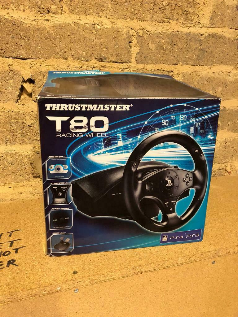 Thrustmaster T80 Steering Wheel and peddles PS4 | in Havant, Hampshire |  Gumtree