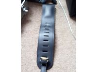 Beautiful leather guitar strap