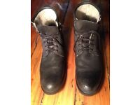 Leather Boots with Shearling lining Size 10