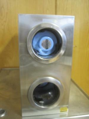 San Jamar 2 Slot Paperplastic Cup Dispenser Stainless Steel Restaurant 24x16x8