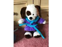Build a bear brown and white dog