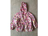 Flowery raincoat aged 2/3 years