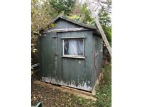 Charming garden shed 12 x 8 foot with windows collector to dismantle