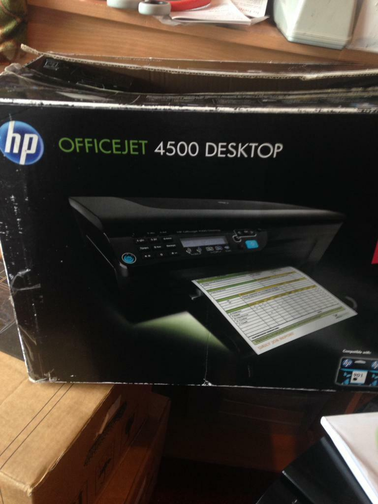 HP printer scanner photo copier, all in one, included black cartridge