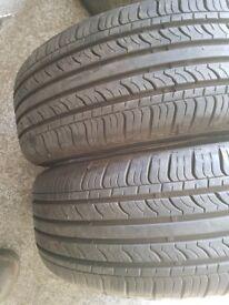 2x 195 60 15 evergreen tyres