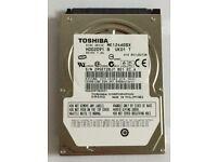 Hard Drive Toshiba MK1246GSX (HDD2D91) 120GB 5400RPM 2.5 SATA Notebook Laptop Hard Drive