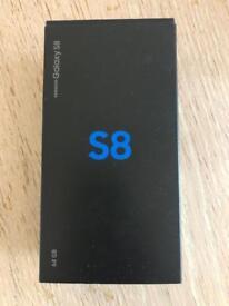 Galaxy s8 unlocked 64 gb great condition full boxed midnight black