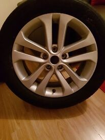 Nissan juke spare alloy wheel and tyre