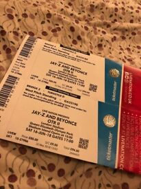 Jay-Z & Beyonce Front stage/west pitch standing £150 each Two Tickets