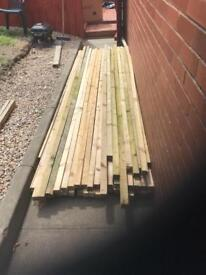 Load of strong wood