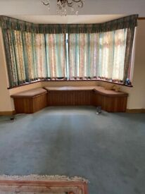 Print chintz curtains and matching pelmet