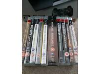 PlayStation 3 with 10 games and 2 controllers