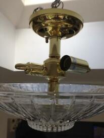 Solid brass light shade