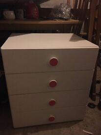 IKEA childrens white small chest of drawers