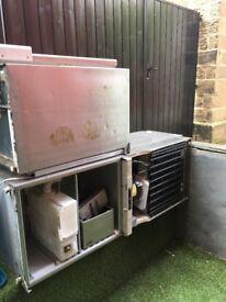 3 half size commercial fridges - for scrap or use.