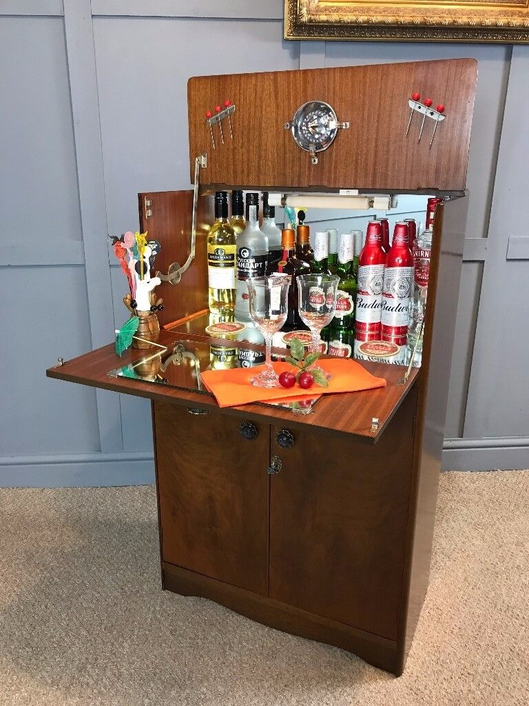 Cocktail Bar 1950's Drinks Cabinet Home Bar Retro Vintage - See Delivery