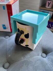Novelty cow mug new in box