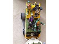 Teenage Mutant Ninja Turtles Party Van Vehicle with characters